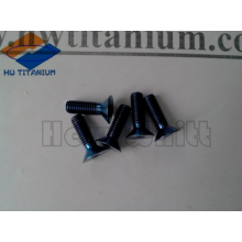 high strength nitriding Gr5 titanium flat bolt M5*16