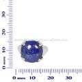 Schöner Lapis Edelstein 925 Solid Silber Ring