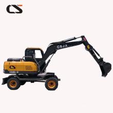 excavadora hidráulica Changsong CS85 excavadora de ruedas