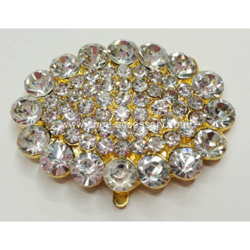 Ellipse Rhinestone Shoe Clips, Egg-Shaped Rhinestone Shoe Clips