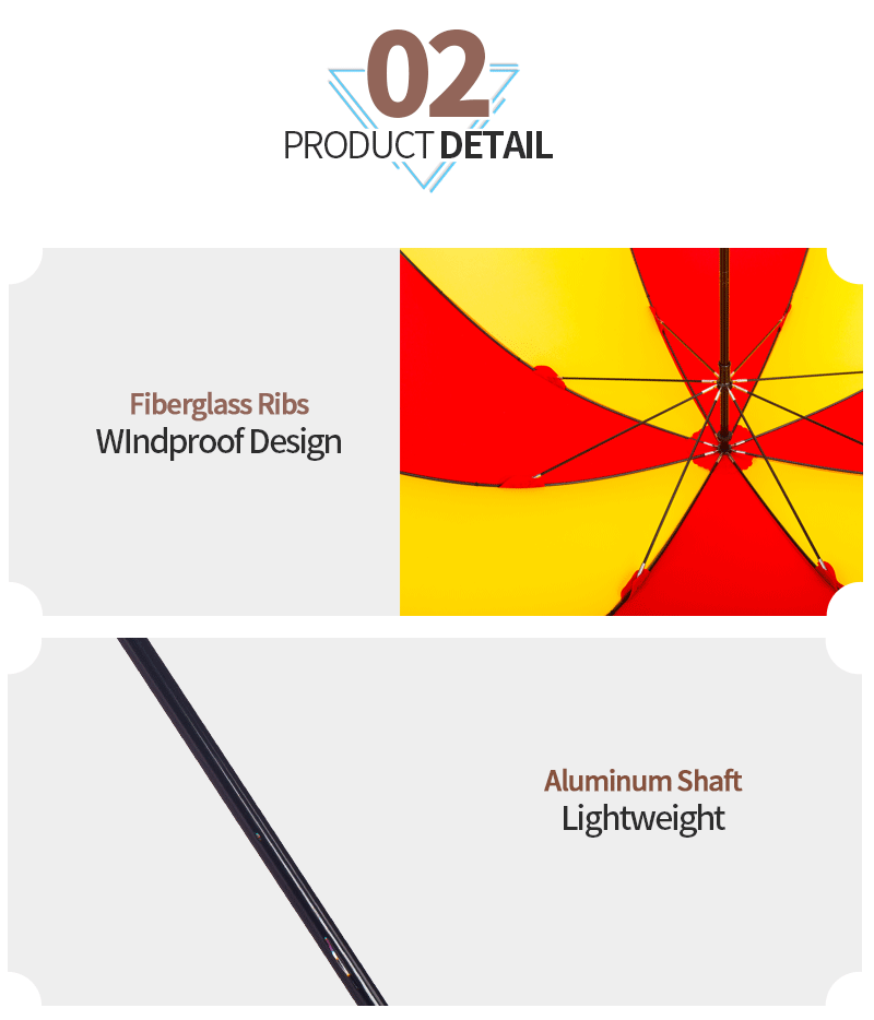 Windproof Lightweight Manual Open Straight Umbrella