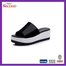 Zapatillas de cuña superior PU