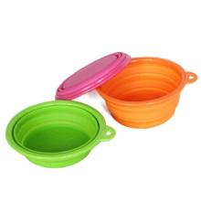 Haustier-Mode-Silikon-zusammenklappbare fütternde Wasser-Zufuhr-faltende Hundeschüssel