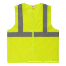 100% polyester Low price reflective warning vest