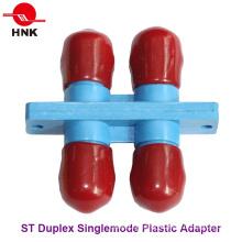 St Duplex Singlemode Plastic Standard Fiber Optic Adapter