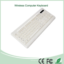 White Color Ultra-Thin Mini Wireless Keyboard