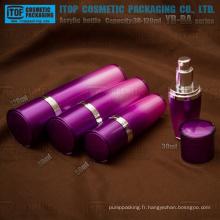 Flacon de lotion acrylique conique colorée de 120ml série YB-BA 30ml 50ml 80ml avec pompe