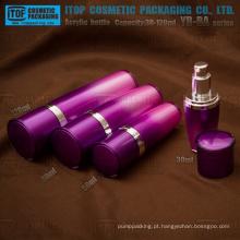 Série YB-BA 30ml 50ml 80ml 120ml colorido do atarraxamento acrílico frasco da loção com bomba