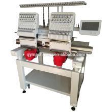 Máquina del bordado del ordenador, máquina del bordado del casquillo de 2 cabezas para la venta