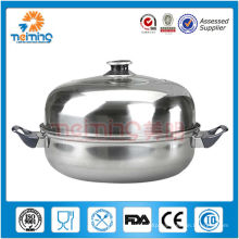 double layer large stainless steel cooking pot, halogen cooking pot