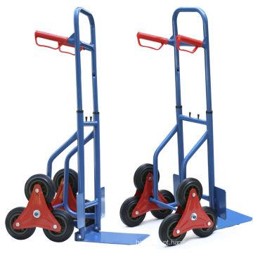 Escada de estilo de dobramento escalando o carrinho de mão de seis rodas