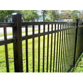 Spear Top Steel Fence Voortuin