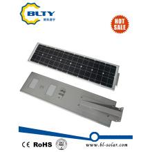 Интегрированный светодиодный уличный светильник мощностью 50 Вт с панелью солнечных батарей