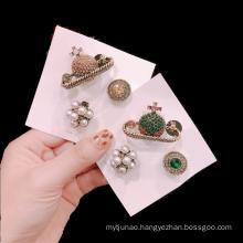 Fall Winter Korean Planet Set Designer Brooch Pin for Women Girl Coat Sweater Accessories Vintage Badge Fashion Jewelry Handmade