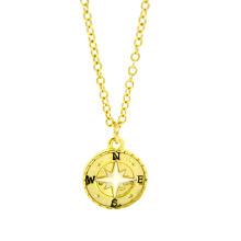 Wholsale China, hecho a mano, bonito collar con dije de brújula de oro de aleación