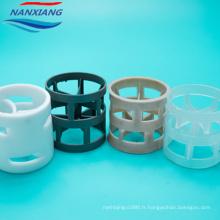 Anneau de Pall d'emballage en plastique de polypropylène de pp de traitement de l'eau