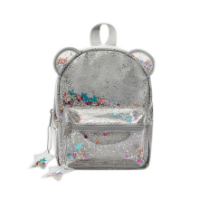 Packed party confetti backpack zar bear shape glitter backpack clear confetti backpack