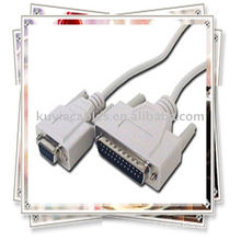 DB9 Female to DB25 Male Null Modem Cable