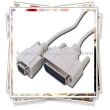 DB9 Female к DB25 Мужской нуль-модемный кабель