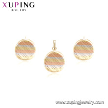 63735 xuping multicolor design simples duas peças elegante conjunto