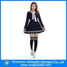 Fábrica de Shenzhen Desenho Uniforme de Escola Secundária Sexy para Meninas