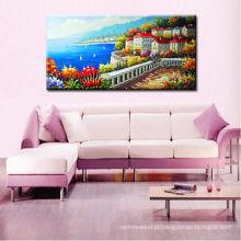 Pinturas do oceano da qualidade do musuem, pintura da parede da pintura da mão do mar Mediterrâneo