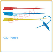 Sceau de sécurité en plastique avec étiquette GC-P004