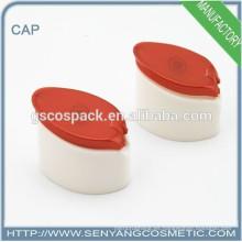 2015 tapones plásticos rojos y blancos para botellas tapa de agujero de plástico