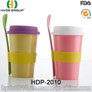Taza de café de fibra de bambú portátil del nuevo estilo 2016 (HDP-2010)