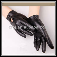 lady winter driving sheepskin leather glove