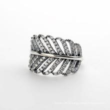 Produtos Brancos em Moda Anel de diamante de moda 2016 Anel de cristal de diamante de prata esterlina italiana 925
