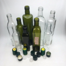 Top Quality Square Cooking Oil Olive Oil Glass Bottle with Metal Lid
