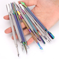 Chinese Factory 8 Colors Stainless Steel Nail Cuticle Pusher