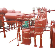 2 tons day waste engine oil recycling machine with vacuum di