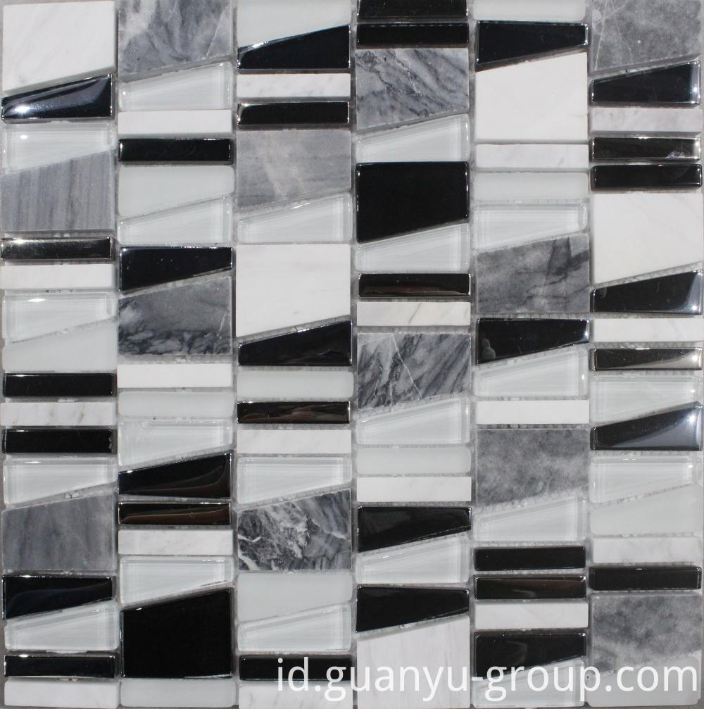 White Irregular Chip Decoration Mosaic
