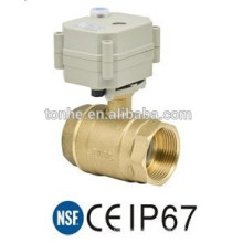 """Válvula de esfera de controle elétrico de 2 vias, 1-1 / 4 """"de bronze"""