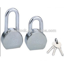 Top security round steel padlock