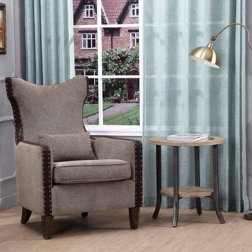 High Back Single Sofa Armchairs In Birch