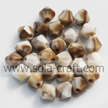 Quality for Faceted Bicone Beads Solid Mixed Colors Loose Acrylic Jewelry Spacer Beads supply to Serbia Wholesale