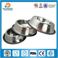 mangeoires ronds en acier inoxydable multi-tailles pour chiens