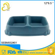 Cuenco de alta calidad al por mayor del animal doméstico de la fibra de melamina de dos secciones de la alta calidad