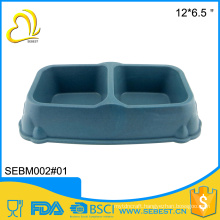 wholesale high quality two section melamine bamboo fiber pet bowl