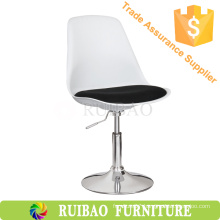 Adjustable Cheap Chromed Round Base Bar Stool For Cafe