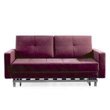 Tissu violet Loveseat Futon Sofa Cum Bed