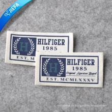 Etiqueta de impresión personalizada de lona / etiqueta de ropa de marca