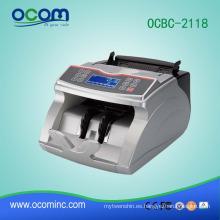 OCBC-2118: máquina contador de billetes de banco con función del contador de monedas de la mezcla de valores