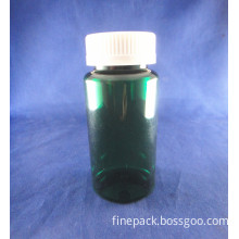 Green HDPE Round Medical Bottles Screw Plastic Tamper Evident Caps