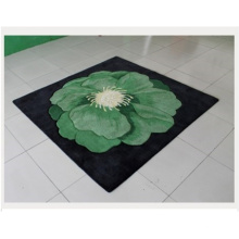 Green Color Wool Bedroom Carpet Dmy-O15