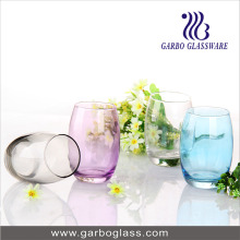 Spray Colored Bowling Glass Water Cup Set