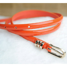 Lady skinny fashion pu leather belt